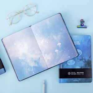 """Image 5 - """"Blue Jellyfish"""" Hard Cover Notebook Blank Art Drawing Papers Journal Study Diary Notepad Stationery Gift"""