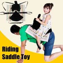 kids toys Stick Horses safety Saddle for kid parent play games Seat Cushion Cotton Embroidered home funny time(China)