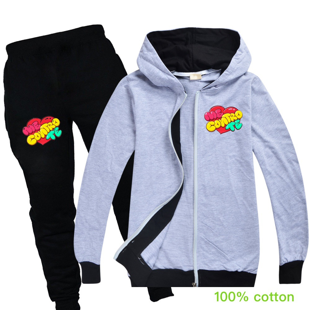 Baby Boys Spring Autumn Me Contro Te Sports Suit 2 Pieces Set Tracksuits Kids Clothing Sets teens girls Clothes jacket Coat Pant 6