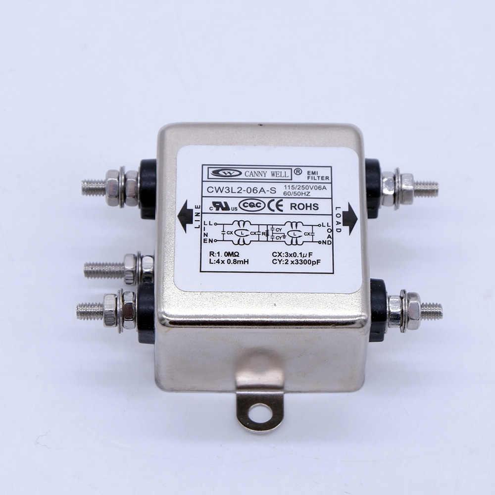 Alimentation EMI filtre CW3L2-06 a-S purification bipolaire monophasé 220 v ac