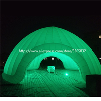 10x5M Giant White Inflatable Igloo Tent Inflatable Air Dome Tent With Led Light For Rental