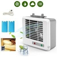 Portátil usb mini condicionador de ar refrigerador ventilador de desktop espaço refrigerador verão condicionador de ar ventilador de refrigeração de ar do espaço pessoal|Vent.| |  -
