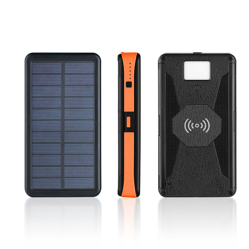 20000mAh Outdoor Folding Foldable Waterproof Solar Panel Charger Portable Qi Wireless Charger LED Solar Power Bank for Phones|Power Bank| |  - title=