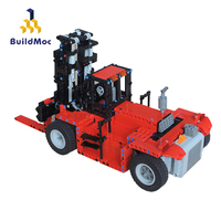BuildMoc Technic RC Car Toys For Boys Forklift Transporter Building Blocks MOC City Vehicle Bricks Educational Toys For Children