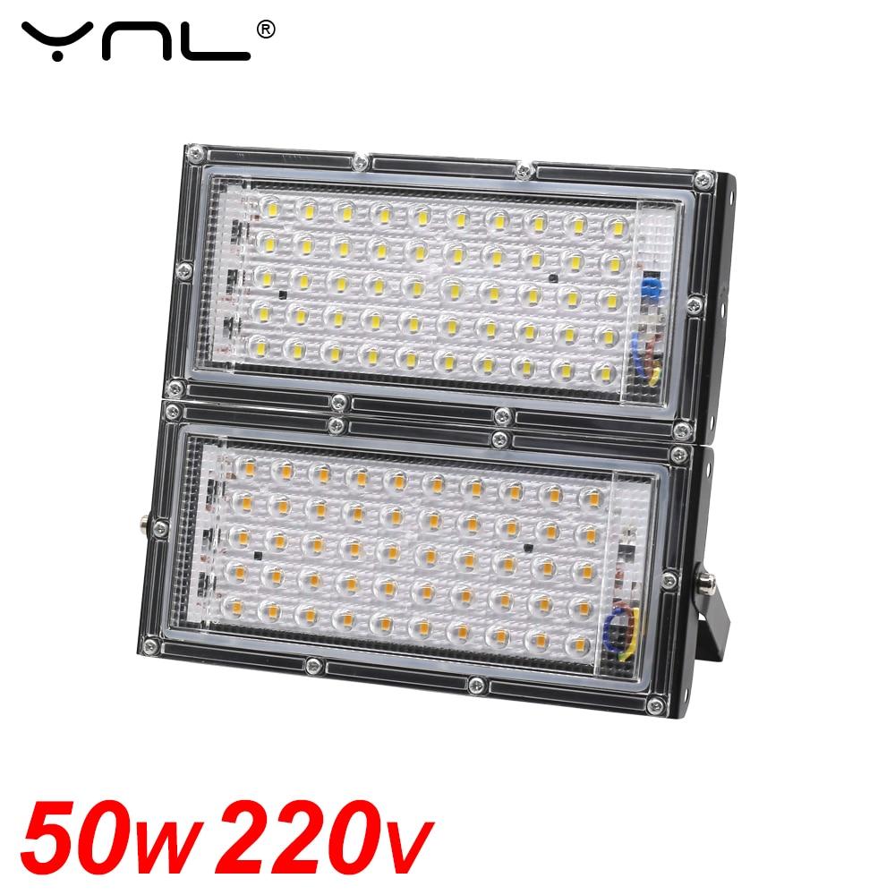 50W LED Flood Light Waterproof IP65 220V 240V Projector FloodLights Outdoor Garden Lighting Street Lamp Reflector LED Spotlight