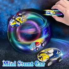 Mini Stunt Car High-Speed Racing Truck Decompression Toy 360 Rotating Laser Chariot Model Colorful Led Spinning