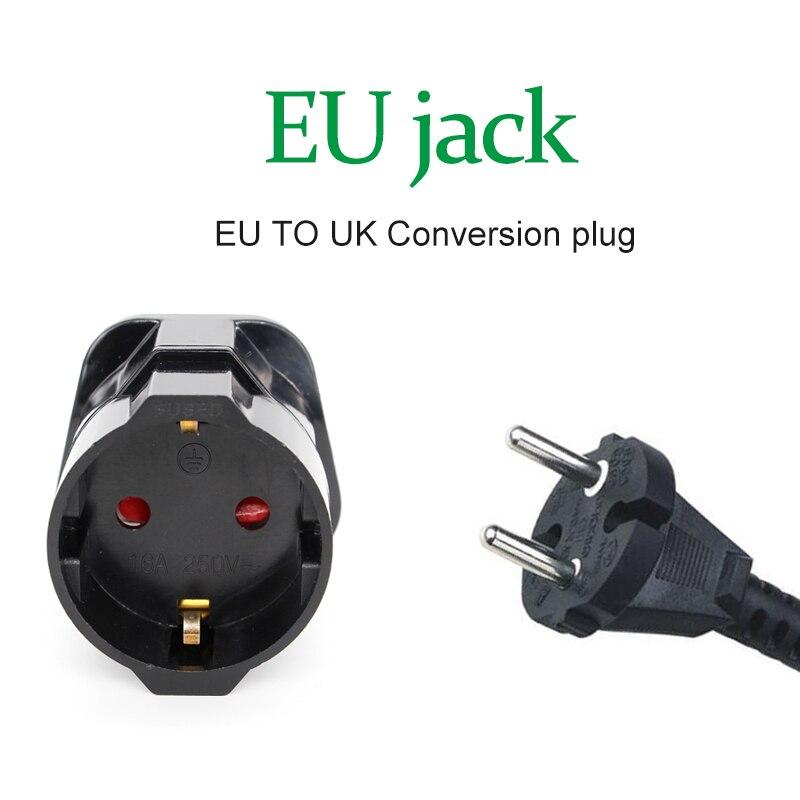 Многофункциональный ЕС Европейское до вилки UK переходник преобразователь питания Вилки 2 контактный разъем для путешествий 250V 13A универсал...