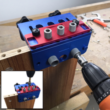 FNICEL 3 In 1 Woodworking Puncher Locator High Precision Dowelling Jig with Metric Dowel Holes Woodworking Joinery