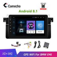 Camecho 8''Car Multimedia Playe Android 8.1 Car Radio 2 Din 2G 16G WiFi Backup Camera GPS Navigation Car DVD Player For BMW E46