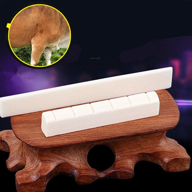 6-String Guitar Bridge Pins Saddle Nut Acoustic Cattle Tailpiece Guitar Accessories For Acoustic Guitar 100% CATTLE BONE Quality