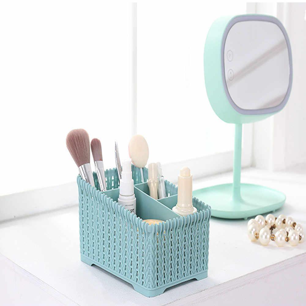 Настольный ящик для хранения мелочей, органайзер для косметики, чехол для хранения кистей, для домашнего офиса, ящик для хранения для ванной комнаты #15