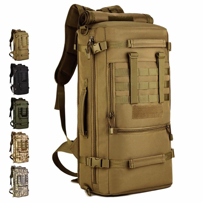50L grand sac tactique militaire en plein air chasse Camping sport sac à dos en Nylon étanche armée sac à dos multifonction
