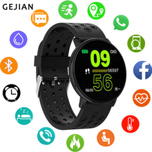 GEJIAN Новые смарт-часы Android водонепроницаемые спортивные мужские и женские Смарт-часы Удаленная камера пульсометр кровяное давление наручные часы