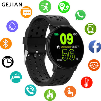 GEJIAN New Smart Watch Android Waterproof Sports men and Women smartwatches Remote Camera Heart Rate Blood Pressure wristwatch