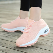 Women Walking Shoes Super Soft Height Increase Travel Outdoor Shoes XR-Hot(China)