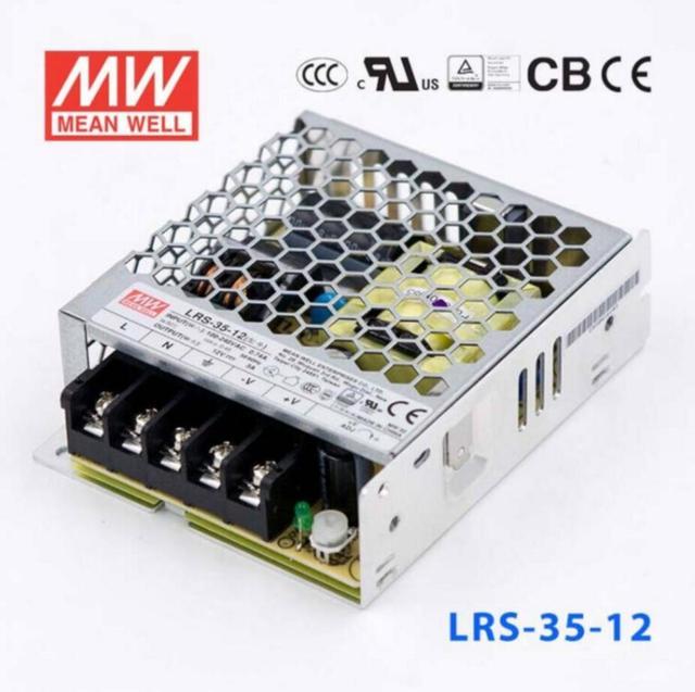 LRS-36-12 MEAN WELL fonte de Alimentação de Comutação 12V 3A 36W