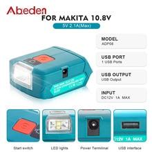 Spotlight Battery Abeden Makita for LED Portable with Usb-Charging-Port Lantern ADP08
