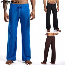 INCERUN Men Long Pants Drawstring Joggers Comfortable Bodybuilding Solid Workout Straight Trousers Men Casual Sweatpants S-5XL