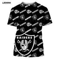 New 3D Skull All Over Printed-Shirts Fashion Sweatshirt Men Women Rugby wear baseball wear Unisex RAIDERS Short sleeve t-shirt