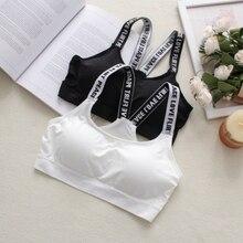 Women Top Push Up Female Brassiere Letter Tank Vest Fitness Bra Shirt Padded Bras Underwear Padded Sports Bra Seamless Vest Tops цены онлайн