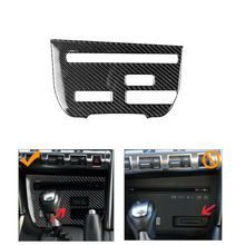 1Pcs Voor Nissan Gtr R35 2008-2016 Carbon Fiber Strip Cd Panel Decoratieve Cover Trim B Auto Styling accessoires