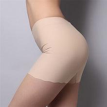 Sous-jupe en coton doux pour femme, pantalon court de sécurité sans couture, sous-vêtement en soie glacée Modal, collants courts respirants, 3 couleurs, été