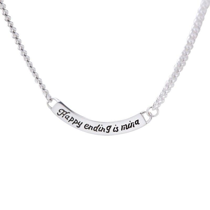 Стерлинговое Серебро 925 регулируемое ожерелье с буквенными подвесками чокер для женщин Аллергия Бесплатная доставка