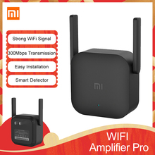 Original Xiaomi Mi WiFi Amplifier Pro 300Mbps Amplificador Repeater Signal Cover Extender Roteador Wireless Router Repetidor cheap CN(Origin) NONE 1 x10 100 1000Mbps 2 4G Wi-Fi 802 11g 300 Mbps Firewall home Xiaomi Wifi amplifier pro Xiaomi Wireless Router Repetidor