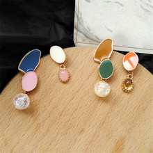 South Korea earrings fashion lady asymmetric geometry contracted exquisite for women