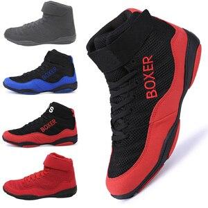 Zapatos profesionales de boxeo para hombres, zapatos de lucha, calzado de levantamiento de pesas, transpirables, antideslizantes, botas de combate, zapatillas deportivas atléticas