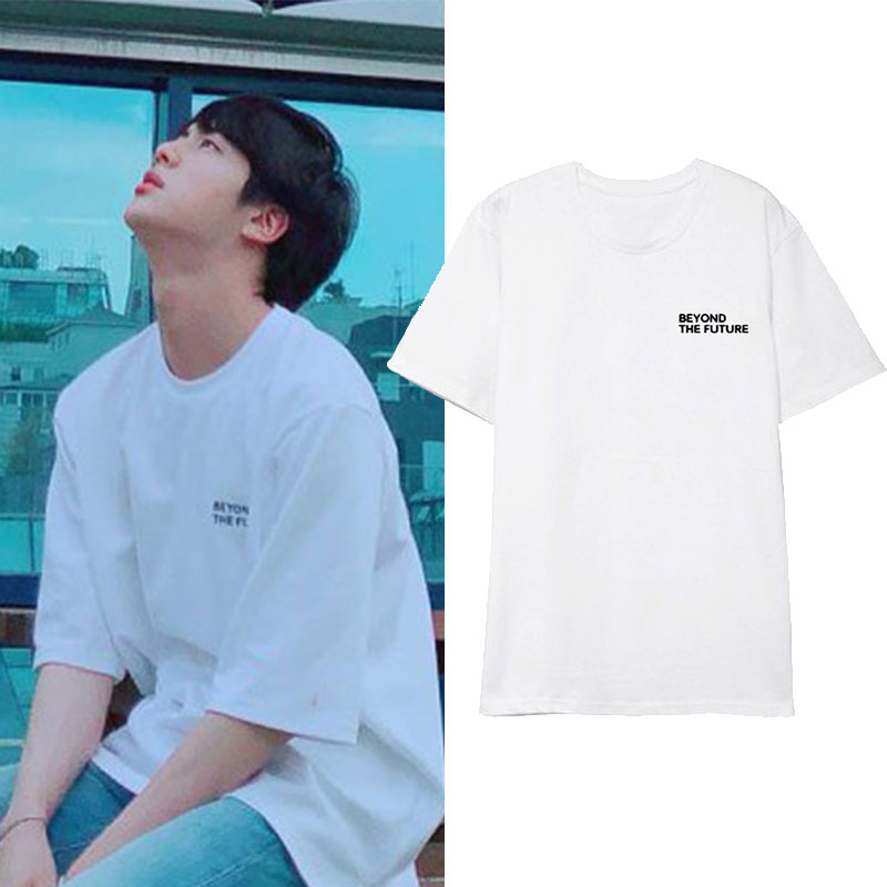 Kpop Beyond The Future Korean loose short-sleeved T-shirt hit song clothes for men and women Summer Casual Cool Fashion T-shirt image
