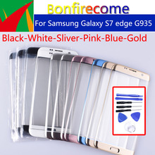 S7Edge Touchscreen For Samsung Galaxy S7 Edge G935 G935F SM G935FD G935A LCD Touch Screen Front  Outer Panel Glass Lens