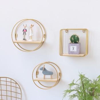 Ɩ�北欧スタイルスカンジナビア壁棚北欧壁の装飾棚リビングルームの装飾オーガナイザー収納ホルダー壁