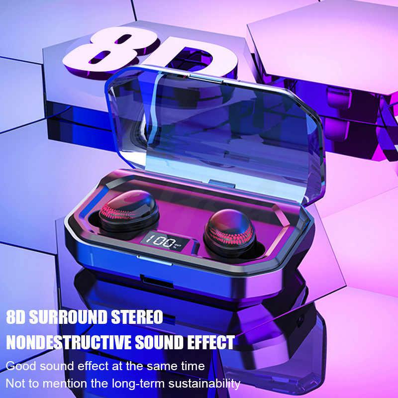 H & A TWS بلوتوث V5.0 ايفي سماعات لاسلكية سماعة 8D ستيريو الرياضة سماعات الأذن سماعة مع شحن مربع Mic ل فون Xiaomi