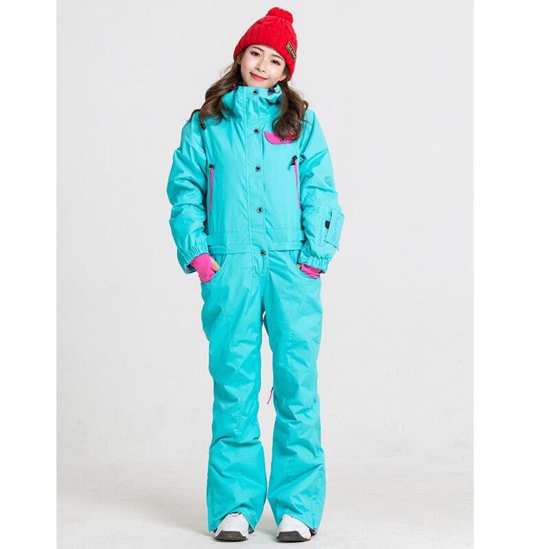 Синий волшебный зимний сноуборд kombez лыжная куртка и брюки лыжные костюмы женский комбинезон женский сноуборд водонепроницаемый комбинезон Россия - Цвет: old blue