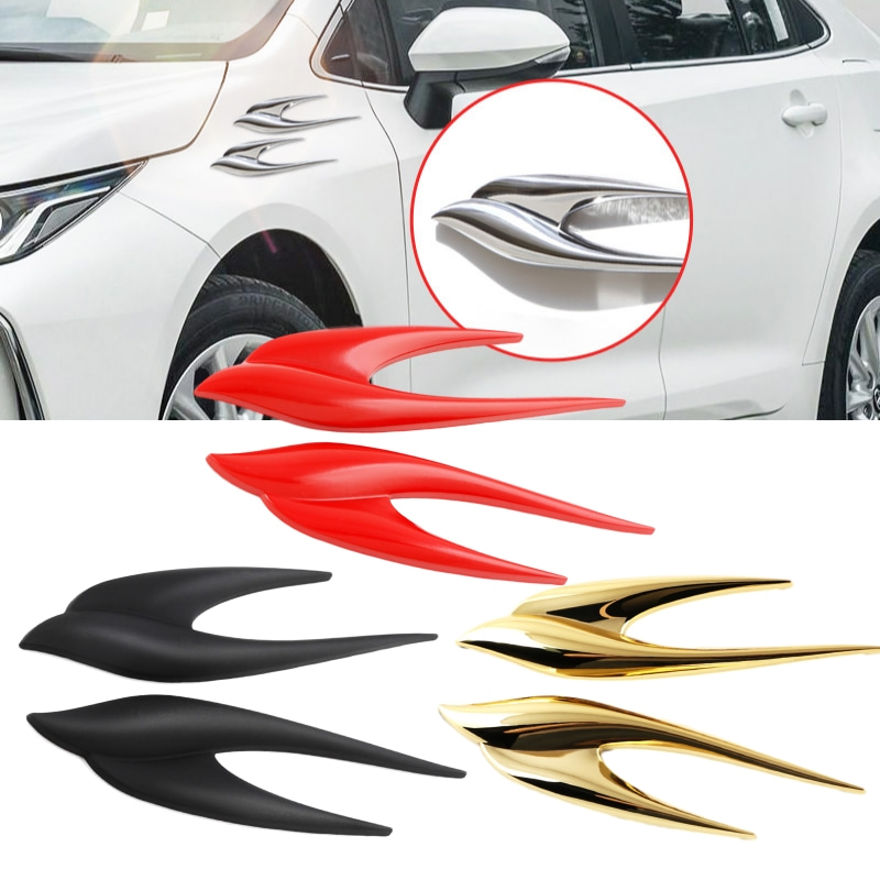 3D Swallow Car Stickers Emblem Decals for BMW E90 E60 E46 F10 F30 F20 E39 E36 A3 A4 A5 A6 A7 A8 Q3 Q5 Q7 Exterior Styling image
