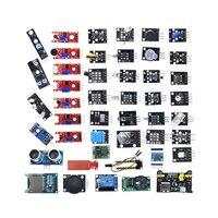 For arduino 45 in 1 Sensors Modules Starter Kit better than 37in1 sensor kit 37 in 1 Sensor Kit UNO R3 MEGA2560|Demo Board|   -