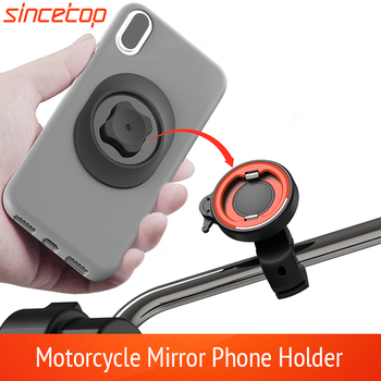 Motorcycle Electric vehicles Moto Bike Phone Navigation Holder Support Rearview Mirror Mount Clip Bracket for Mobile Cell Phone