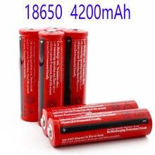3,7 V 4200 Mah 18650 Li-Ion Oplaadbare Batterij Voor Führte Zaklamp Von Elektronische Gadget Mah 18650 Batterie
