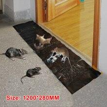 1.2M 쥐덫 효율적인 스티커 마우스 보드 슈퍼 강한 큰 쥐 붙여 넣기 가정용 쥐덫 쥐 독 쥐 접착제 보드 쥐덫