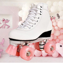 New Style Adult Double-row roller skates Four-wheel skates Adult Men and women outdoor Skates shoes Free Shipping
