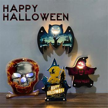 Halloween Lights Home Decorative Led Lights Diwali Styling Lamp Night Light Helloween Spider Bat Pumpkin Ghost Skull Decoration image
