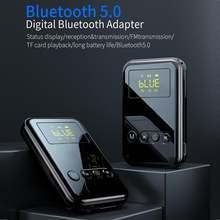 Bluetooth 50 цифровой Дисплей аудио передатчик приемник 4 в