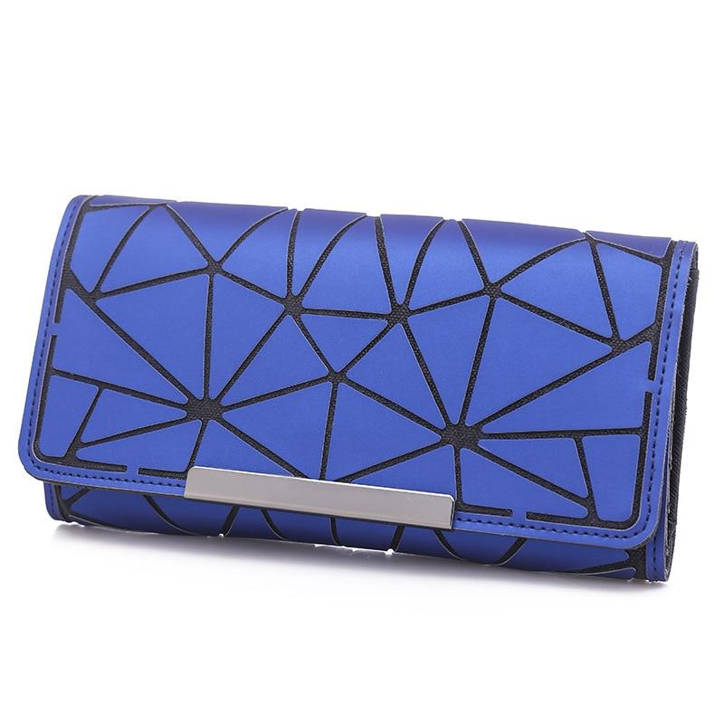 Adi Celebrity Style Wallet AD Miyake Rhombus Wallet Multi-functional Wallet-Women's Leather Wallet Colorful Package