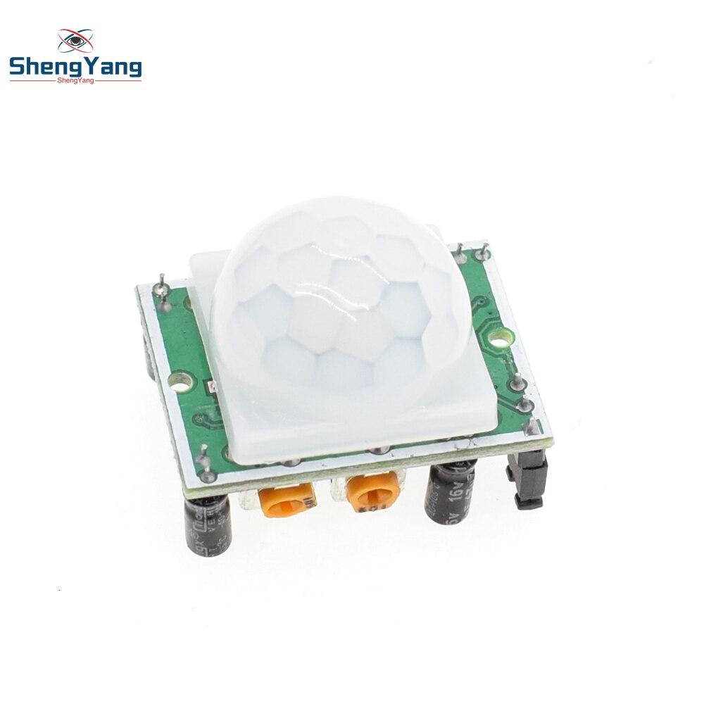 Shengyang HC-SR501 módulo de detector de sensor de movimento, infravermelho ir pyroelétrico pir para arduino para kits raspberry pi, 1 peça