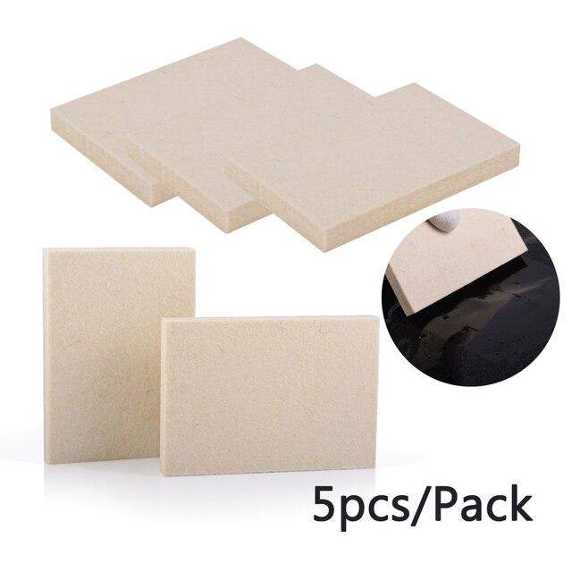 EHDIS 5pcs 창 색조 자동차 소프트 양모 스크레이퍼 비닐 필름 스티커 포장 스퀴지 탄소 섬유 데칼 리무버 청소 자동차 도구