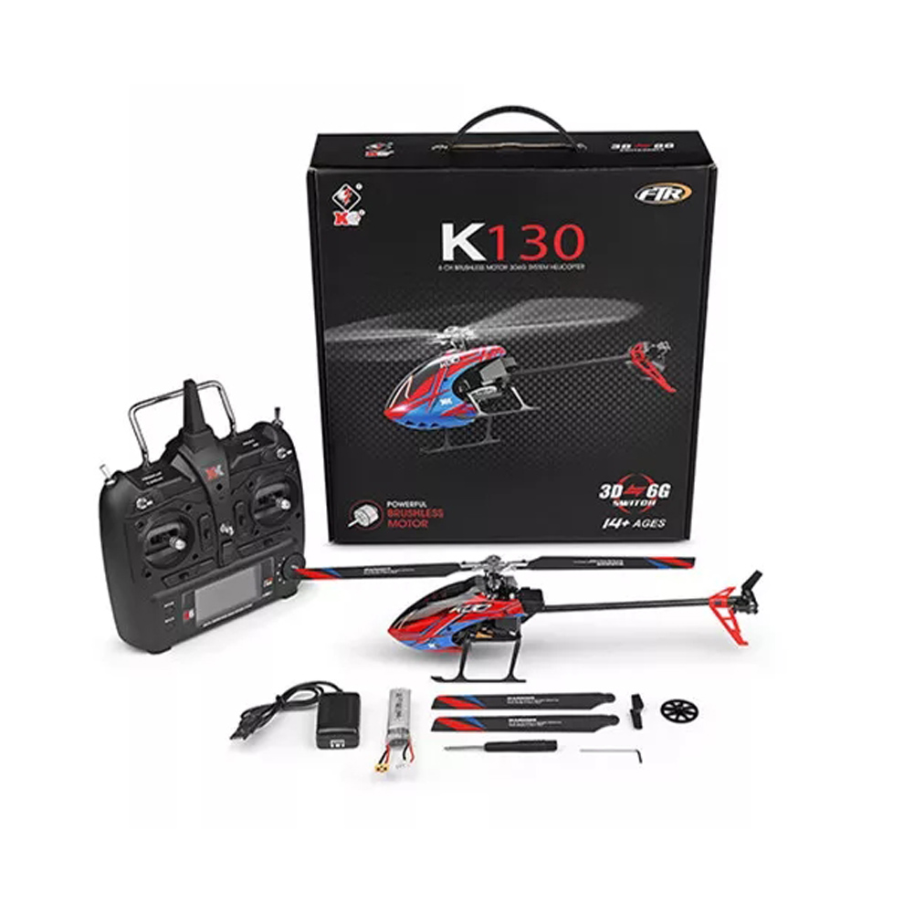 K130 6CH Fun Interactive Brushless Motor RC Helicopter Flying Rechargeable 3D 6G Beginners Toy Flybarless Compatible With FUTABA
