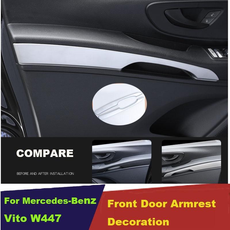 For Mercedes-Benz Vito W447 2014-2019 ABS Exterior Door Handle Bowl Frame Trim