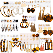 Vintage Tassel Acrylic Girl Women Earrings Ear Studs Bohemian Earrings Set Big Dangle Pearl Drop Hoop Earring Jewelry Gift badu long ostrich feather earring women fashion jewelry freshwater pearl bohemian vintage dangle drop earrings