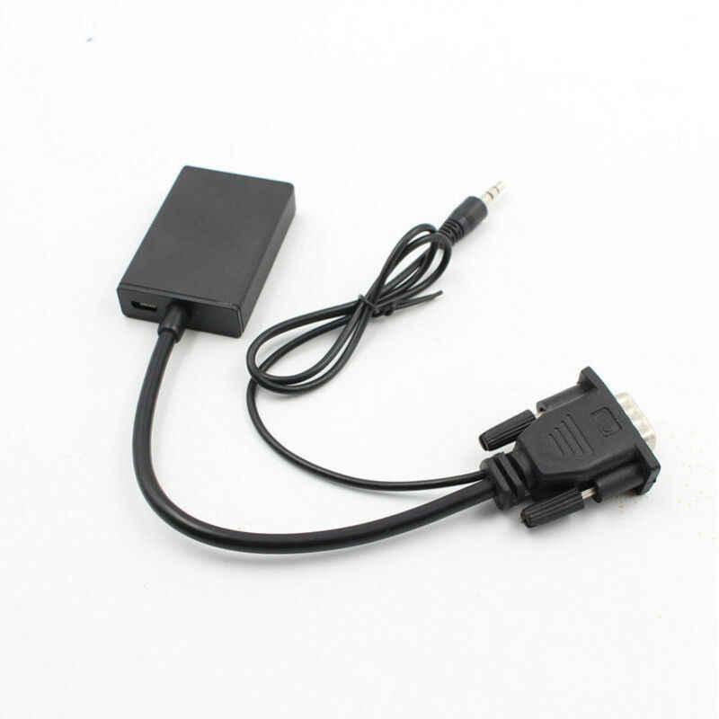Адаптер-конвертер с VGA на выход HDMI, 1080P, HD + аудио, ТВ, AV, HD, ТВ